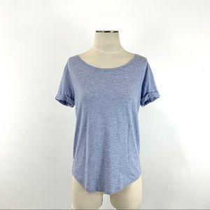 H&M- Light Blue Heather Shirt Sleeved Basics Tee S